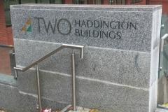 free standing signage at two haddington-w800